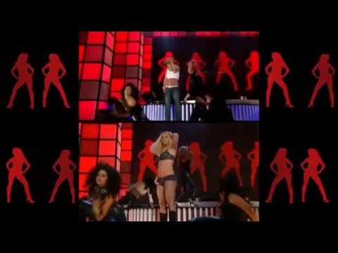 Britney Spears - Gimme More (VMA 2007 - Rehearsal vs Live Performance)
