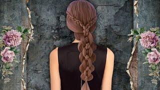 Красивая коса. Пятипрядная коса. Braids. Kapralova Olga