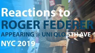 Reactions to Roger Federer appearing at UNI QLO 5th Ave NYC 2019