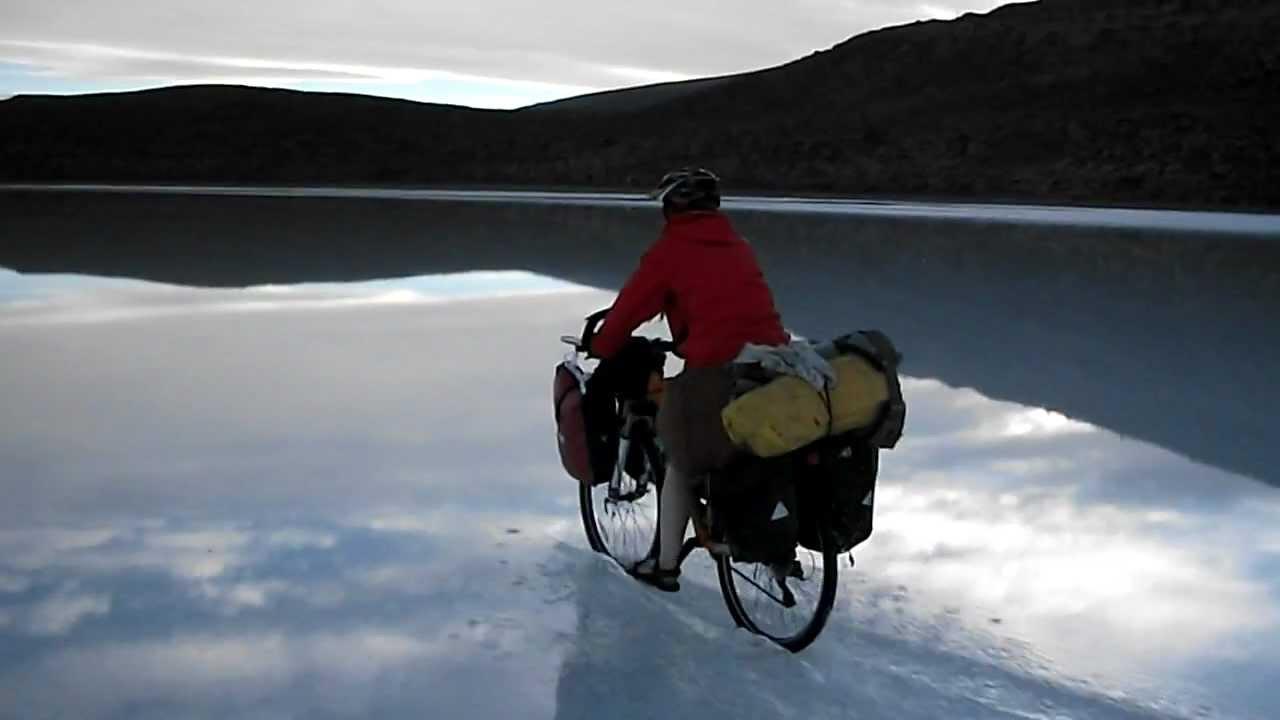Bolivia Salar De Uyuni Cycling On Water Youtube