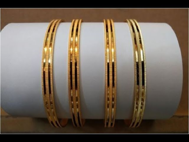 At chadwick bell's new york fashion week show, the only thing better than the clothes was the jewelry made out of other jewelry. Latest Gold Bangle Designs 2020 New Gold Bangles Design Images Gold Jewellery Youtube
