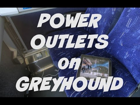 q&a: power outlets on greyhound bus - youtube