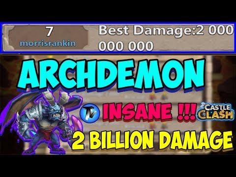 Castle Clash - Archdemon 2 Billion Damage!!!! | Increases ATK