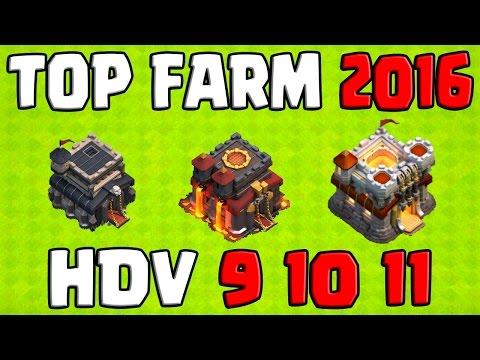 Clash of Clans | 2016 : LES MEILLEURES BASES FARM | HDV 9 HDV 10 HDV 11 | Farming | Mise à jour