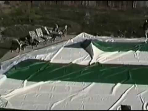 Commercial swimming pool dome cover Installation