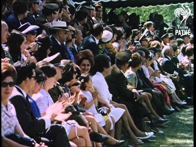 Queen Elizabeth II and Duke of Edinburgh tour to Chile in 1968 video