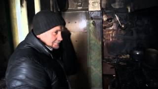 Рассказ о пожаре на ул. Южная в Карпинске 2 марта 2016