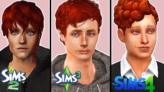 Create the same Sim in Sims 2, 3 & 4 | Male Version (with CC)