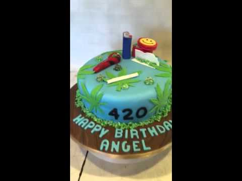 420 Weed theme birthday cake marijuana cake YouTube