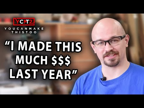 YouTube Woodworker Earnings - All Income Sources!
