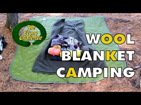 wool-blanket-camping-econo-challenge-test-hike