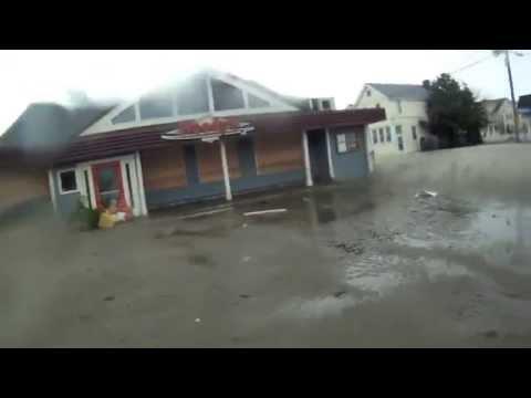hurricane sandy sea bright NJ (live)