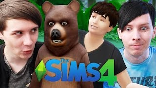 DIL GOES CAMPING! - Dan and Phil Play: Sims 4 #18