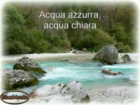 Acqua Chiara Acqua Azzurra Mitica Canzone Poesia Dellestate 1969