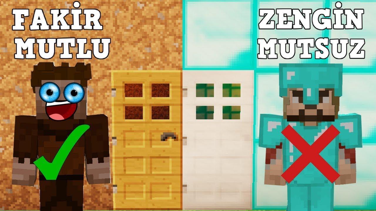 Zengin Vs Fakir 54 Minecraft Dizisi Youtube