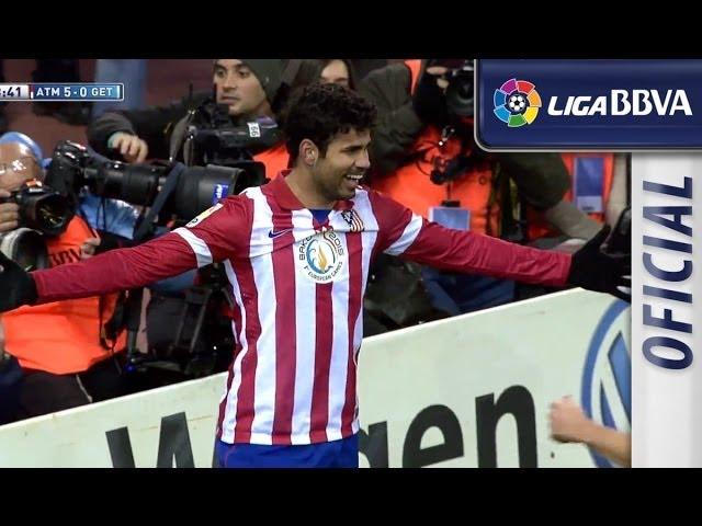 Candidato al Premio Puskás 2014: Golazo de chilena de Diego Costa (5-0) Atlético de Madrid - Getafe