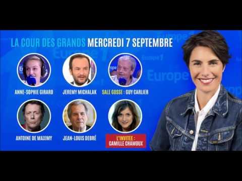 Vidéo Europe 1- La cour des grands - 07 sept.2016. Quizz + intervention.