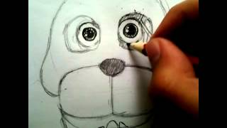 Рисую Бонни из ФНАФ 1