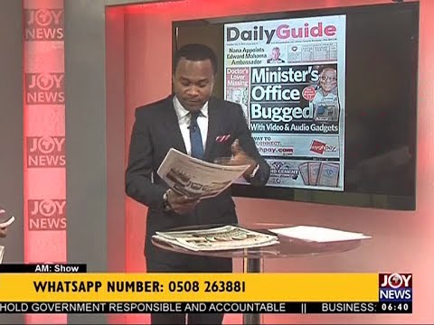 AM Show Newspaper Headlines on JoyNews (11-7-17)