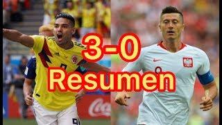 Todos los Goles y Resumen Colombia vs Polonia mundial 2018