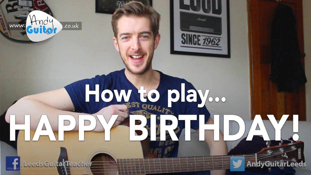 Happy Birthday Easy Guitar Tutorial How To Play Youtube