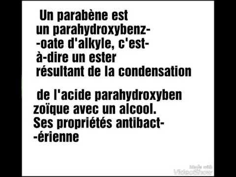 toxicité de parabene dans le savon et les médicaments et la nourriture