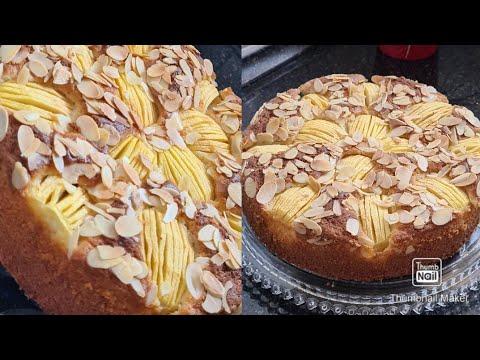 gâteau-aux-pommes-moelleux-et-ultra-rapide-كيك-التفاح-بيضتين-فقط