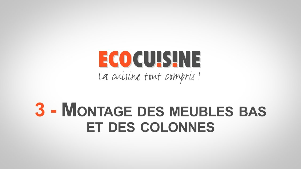 3 montage des meubles bas et colonnes monter sa cuisine soi m me youtube. Black Bedroom Furniture Sets. Home Design Ideas