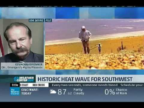 Phoenix Emergency Management Director on Weather Channel Discussing How to Deal with Extreme Heat