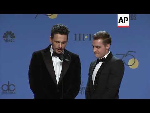 Del Toro, Gerwig, Ronan, Franco and more celebrate Globes wins backstage
