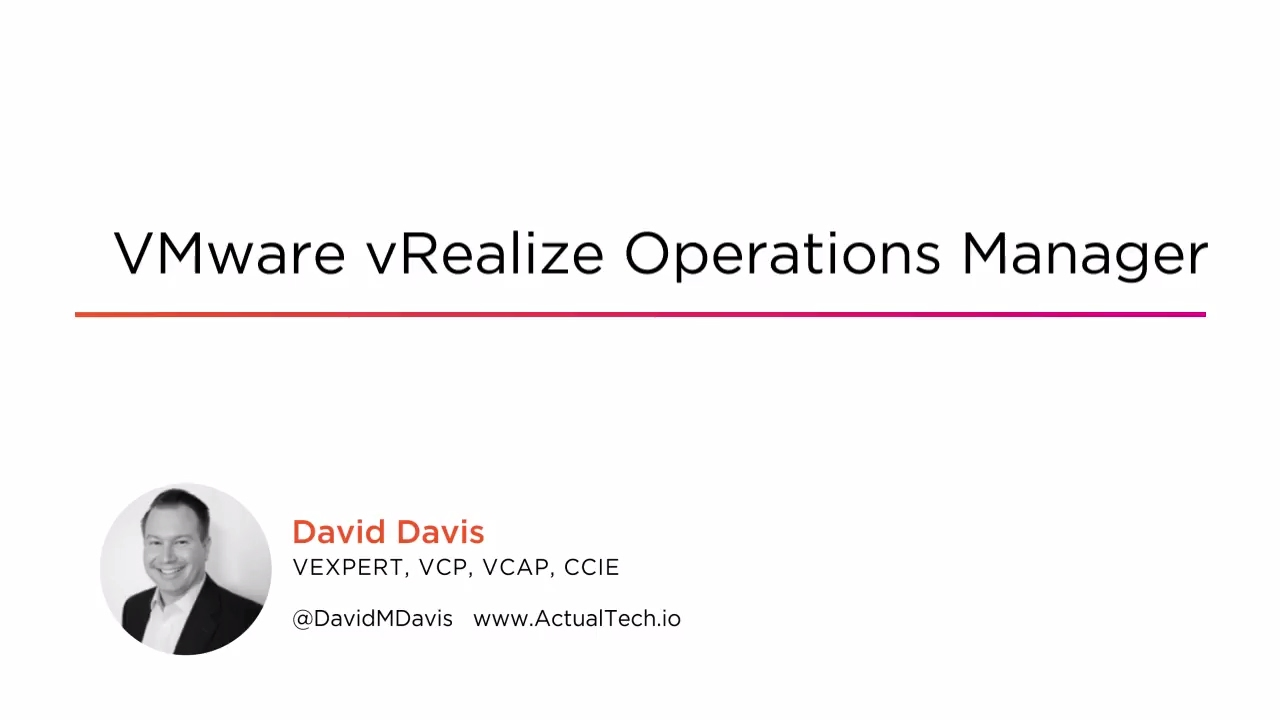 VMware vRealize Operations Manager | Pluralsight