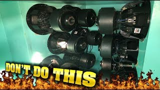 BLOWING $1,000 SUBWOOFERS!? 12 15S EXTREME BASS DEMO
