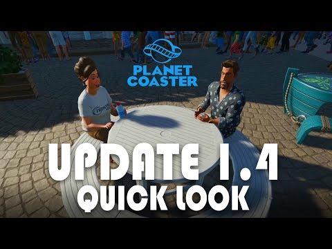 Planet Coaster Update 1.4 - Quick really weird first look :-D
