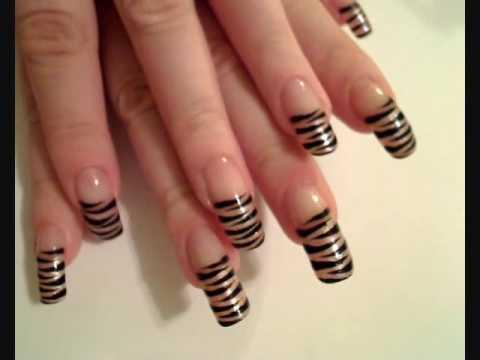 Tiger striped nail art tutorial youtube prinsesfo Choice Image
