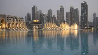 Dubai Fountain - Purskkaevu show Burj Khalifa ees