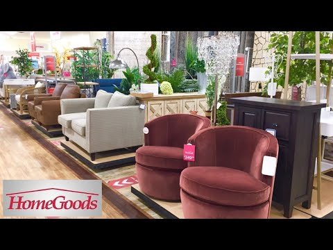 HOMEGOODS ARMCHAIRS SOFAS CONSOLES TABLES FURNITURE DECOR SHOP WITH ME SHOPPING STORE WALK THROUGH