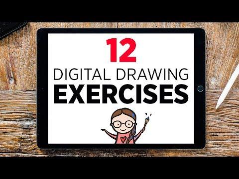 12 X DIGITAL DRAWING Exercise | Get Better At Digital Drawing