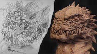 """Скульптура выдуманного персонажа """"Змей наблюдатель"""". Первый """"урок"""" по лепке"""