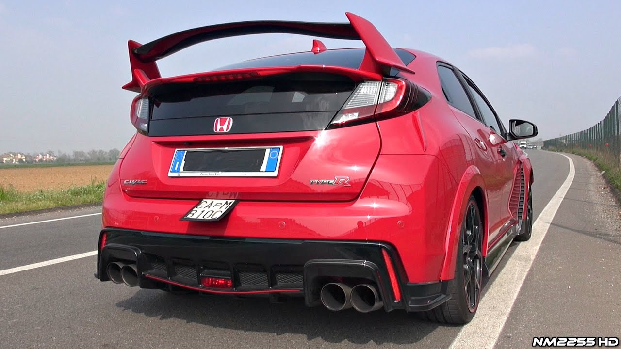 2016 honda civic type r fk2 with custom exhaust sound revs accelerations onboard more. Black Bedroom Furniture Sets. Home Design Ideas
