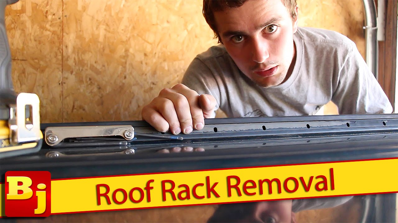 How to Remove a Factory Roof Rack - YouTube