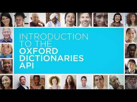 Oxford Dictionaries API