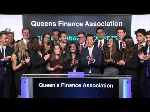 Queen's Finance Association Conference 2017 (QFAC) closes Toronto Stock Exchange, November 3, 2017