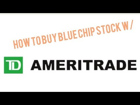 How to Find/Buy blue chip stock W/ Td Ameritrade (3 min)