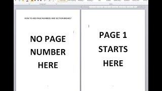 [MS WORD] Add Page Number, Section Break - EASY TIP