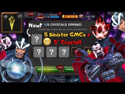 5 Sinister GMCs + 5* Crystal! New Champ?! - Marvel Contest of Champions