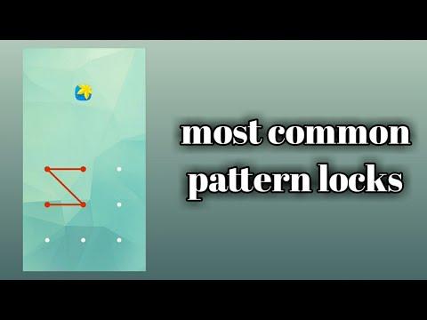 Most Common Pattern Locks60%smart Phone Users Use These Pattern Unique Most Common Pattern Locks
