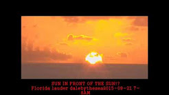 NEWS! SUN IN FRONT OF THE SUN! Florida lauder  2015-09-21