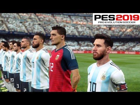PES 2019 Amazing Realism - Argentina vs Brazil PC Gameplay