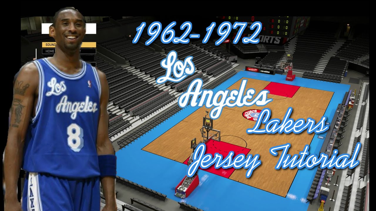 NBA 2K16  1962-1972 Los Angeles Lakers Jersey and Arena Tutorial - YouTube a94e8e01d