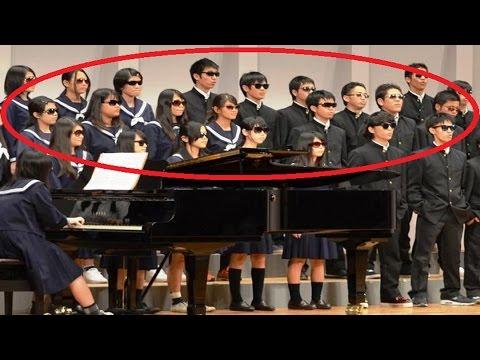 【涙腺崩壊】高校の合唱祭で全員がサングラス姿で登壇。その行動の理由とは一体…。